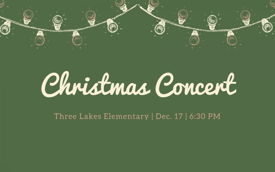 Three Lakes Elementary Christmas Program
