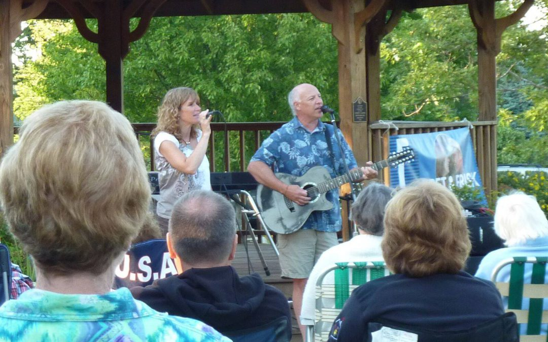 Bret & Frisk Concert in the Park and POTLUCK